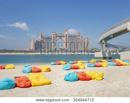 Coastal Scenery Including Atlantis The Palm In Dubai