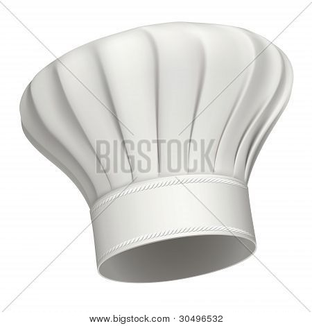 Chef Hat Vector Icon Isolated