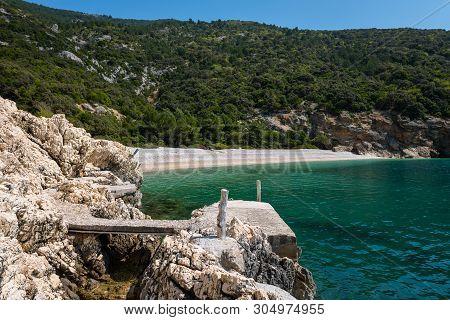 Bay (plava Grota) Near Lubenice (cres, Croatia) On A Sunny Day In Spring