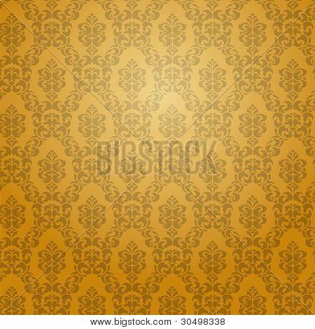 Golden Damask Wallpaper.