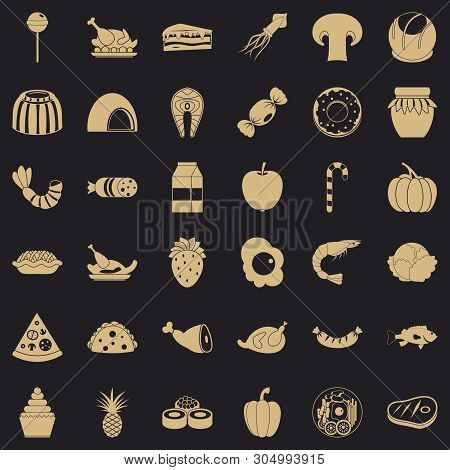 Semolina Icons Set. Simple Set Of 36 Semolina Vector Icons For Web For Any Design