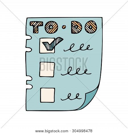 List Todo Lettering Vector & Photo (Free Trial) | Bigstock