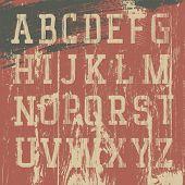 Vintage grunge western alphabet, vector set