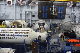 Houston, Tx - Apr 19: Astronaut Training Facility At Space Center In Houston Texas On April 19 2019.