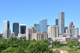 A View Of The Houston Skyline In Texas