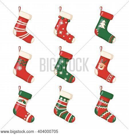 Christmas Socks And Gifts, New Year Xmas Stockings