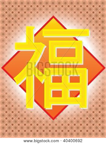 Fu - Meaning Happiness Halo Fortune Chinese Word III