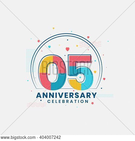5 Years Anniversary Celebration, Modern 5th Anniversary Design