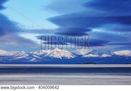 Yellowstone Lake in Yellowstone National Park