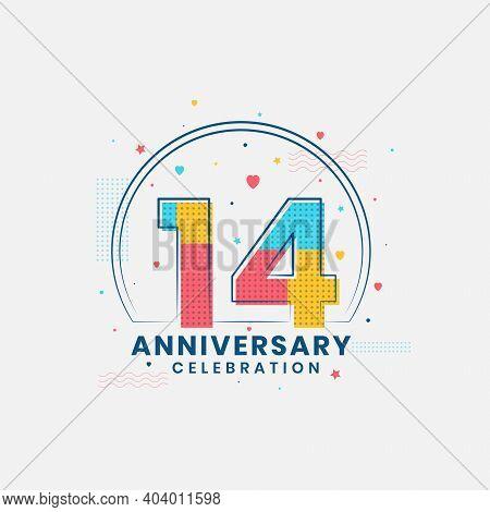 14 Years Anniversary Celebration, Modern 14th Anniversary Design