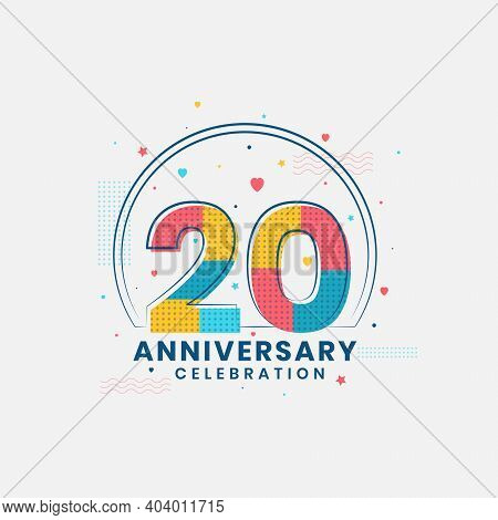 20 Years Anniversary Celebration, Modern 20th Anniversary Design