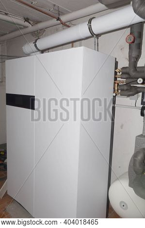 New Gas Boiler With Condensing Boiler And Fuel Cell Hydrogen Heating