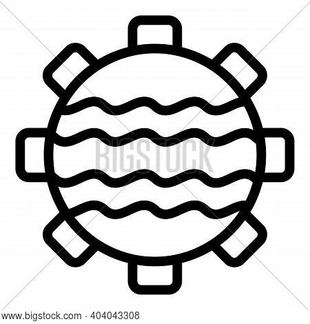 Hydro Power Icon. Outline Hydro Power Vector Icon For Web Design Isolated On White Background