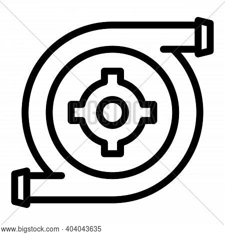 Hydro Power Turbine Icon. Outline Hydro Power Turbine Vector Icon For Web Design Isolated On White B