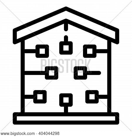 Smart House Consumption Icon. Outline Smart House Consumption Vector Icon For Web Design Isolated On