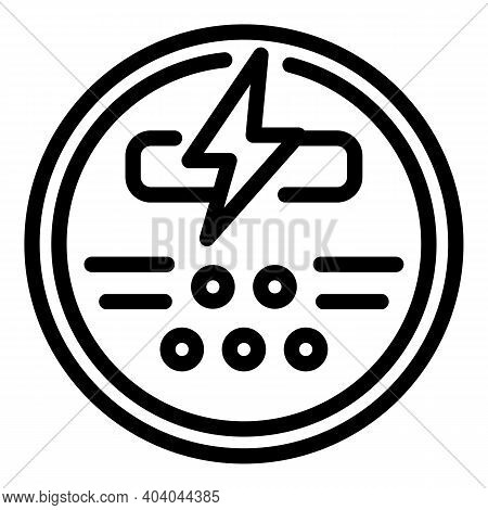 Gauge Energy Consumption Icon. Outline Gauge Energy Consumption Vector Icon For Web Design Isolated