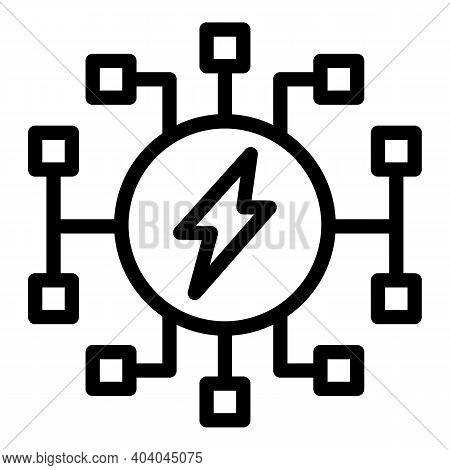 Full Battery Energy Icon. Outline Full Battery Energy Vector Icon For Web Design Isolated On White B