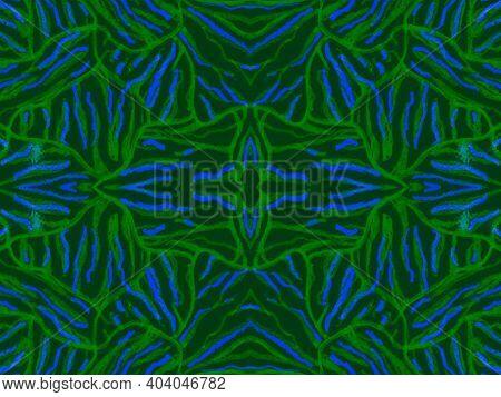 Seamless Ethnic Print. Fashion Exotic Leather Design. Psychedelic Safari Background. Dark Zebra Skin