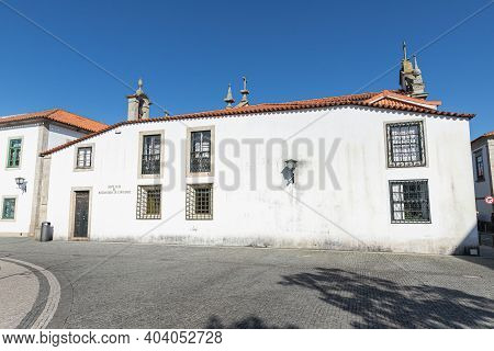 Esposende, Portugal - February 21, 2020: Architectural Detail Of The Sacred Art Museum Of The Church