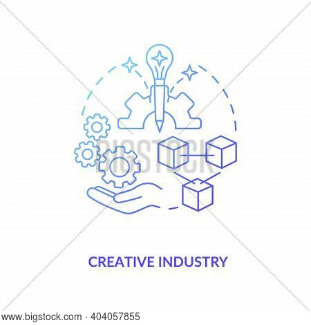 Creative Industry Concept Icon. Game Design Industry Benefits And Advantages. Exploitation Of Knowle
