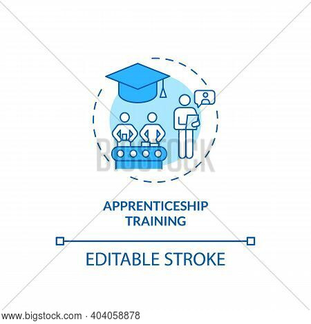 Apprenticeship Training Concept Icon. Staff Development Idea Thin Line Illustration. Practical Exper