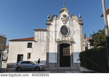 Esposende, Portugal - February 21, 2020: Architectural Detail Of The Church Of Mercy (santa Casa Mis