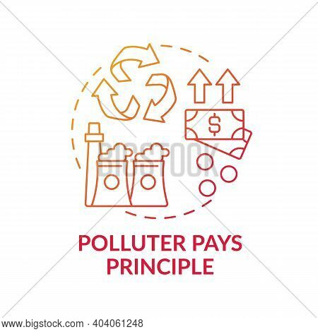 Polluter Pays Principle Concept Icon. Ethical Banking Idea Thin Line Illustration. Climate Justice.