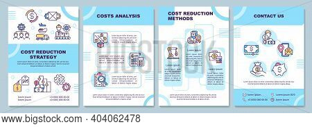 Cost Reduction Strategy Brochure Template. Costs Analysis. Flyer, Booklet, Leaflet Print, Cover Desi
