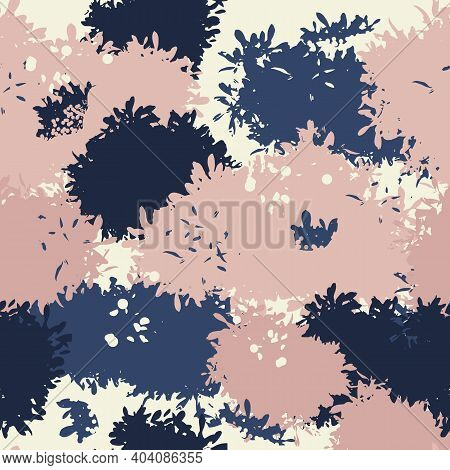 Abstract Grunge Camouflage, Seamless Texture, Military Camouflage Pattern, Army Or Hunting Camo Clot