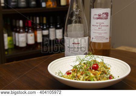 Ribeirao Preto, Sao Paulo - Brazil. October/2019. Italian Spaghetti With Clams, Spaghetti Alle Vongo