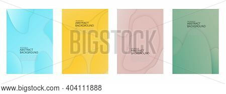 Set Of Abstract Vector Backgrounds With Line Waves And Random Shape. Eps10 Vector Illustration Desig