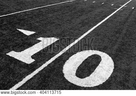 Black and white photo of Ten Yard Line