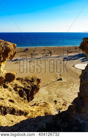 Eroded Rock Formations In Bolnuevo, Spain