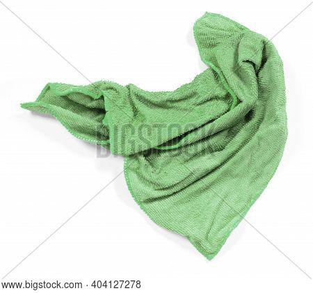 Dirty Cloth Isolated On A White Background