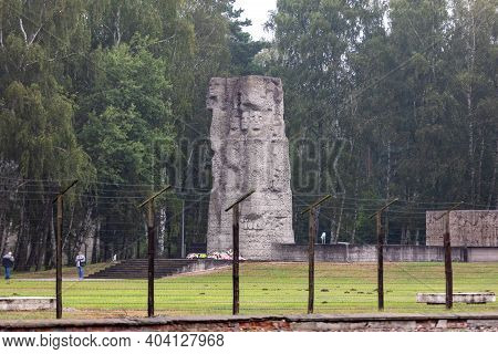 Sztutowo, Poland - Sept 5, 2020: Memorial To Victims At The Former Nazi Germany Concentration Camp,