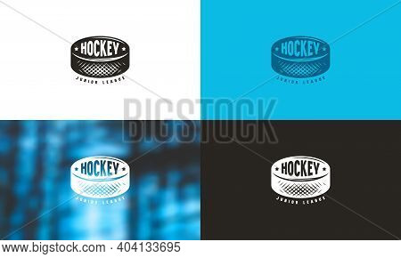Emblem For Ice Hockey Junior League. Color Variation
