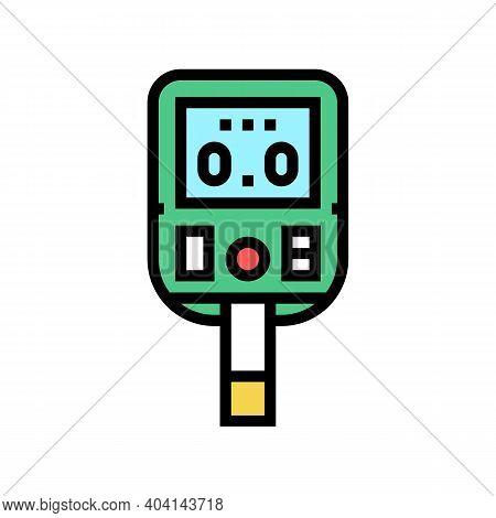 Glucose Monitoring Gadget Color Icon Vector. Glucose Monitoring Gadget Sign. Isolated Symbol Illustr