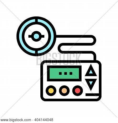 Insulin Pump Color Icon Vector. Insulin Pump Sign. Isolated Symbol Illustration