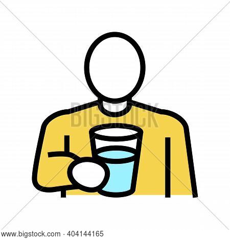 Drink Water, Thirst Color Icon Vector. Drink Water, Thirst Sign. Isolated Symbol Illustration