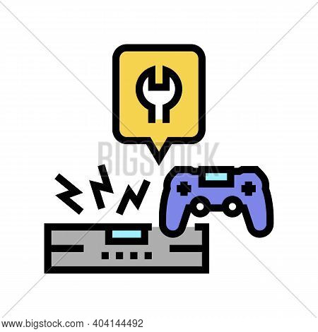 Game Console Repair Color Icon Vector. Game Console Repair Sign. Isolated Symbol Illustration
