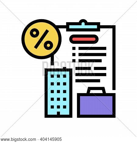 Open Own Business Loan Color Icon Vector. Open Own Business Loan Sign. Isolated Symbol Illustration
