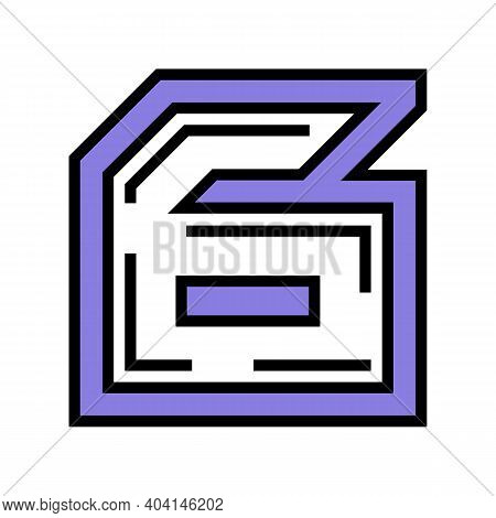 Sixth Number Color Icon Vector. Sixth Number Sign. Isolated Symbol Illustration