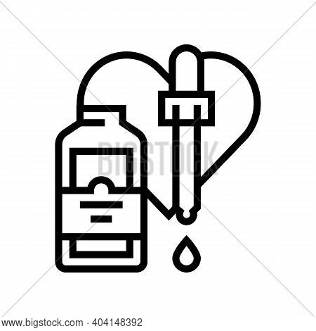 Medicaments For Animal Line Icon Vector. Medicaments For Animal Sign. Isolated Contour Symbol Black