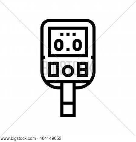 Glucose Monitoring Gadget Line Icon Vector. Glucose Monitoring Gadget Sign. Isolated Contour Symbol