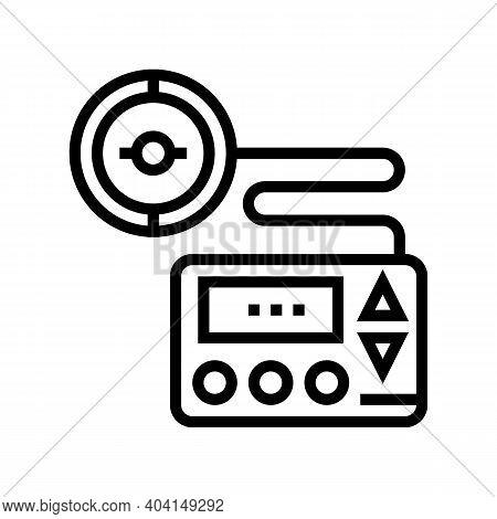 Insulin Pump Line Icon Vector. Insulin Pump Sign. Isolated Contour Symbol Black Illustration