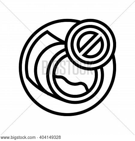 Blockage Of Blood Vessels Line Icon Vector. Blockage Of Blood Vessels Sign. Isolated Contour Symbol
