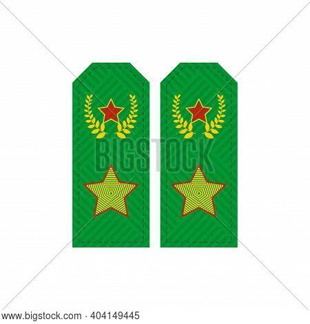 Shoulder Straps Of Russian General. Vector Illustration