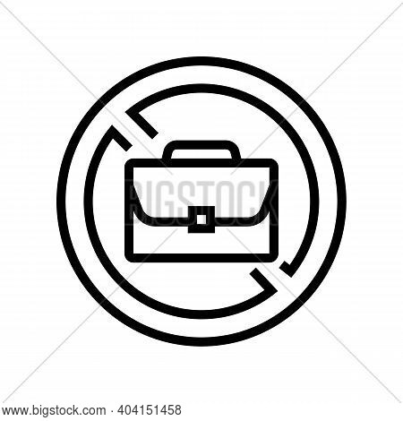 Job Lost Poverty Problem Line Icon Vector. Job Lost Poverty Problem Sign. Isolated Contour Symbol Bl