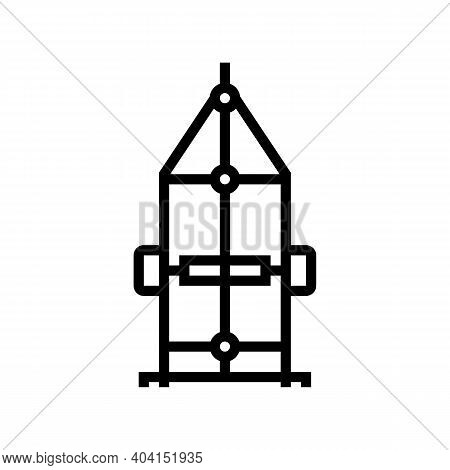 Carriage Trailer Line Icon Vector. Carriage Trailer Sign. Isolated Contour Symbol Black Illustration