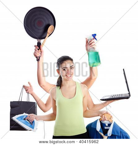 Multi-tasking Woman